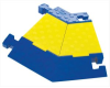 Elbow, Flat 45 deg Right Turn Blue/Yellow Cast Polyurethane -- 78358553724-1