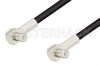 MCX Plug Right Angle to MCX Plug Right Angle Cable 48 Inch Length Using RG174 Coax, RoHS -- PE3304LF-48 -Image