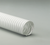 Double-Ply White Acrylic Coated Polyester Fabric Hose -- Flexaust® White 1.5 - Image