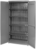 Akro-Mils 1000 lb Gray Powder Coated Steel 18 ga Non-Stackable Bin Cabinet - 36 in Overall Length - 18 in Width - 78 in Height - Lockable - AC3618KD4AS -- AC3618KD4AS - Image