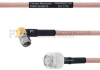 RA SMA Male to TNC Male MIL-DTL-17 Cable M17/60-RG142 Coax in 48 Inch -- FMHR0027-48 -Image