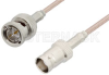 75 Ohm BNC Male to 75 Ohm BNC Female Cable 72 Inch Length Using 75 Ohm RG179 Coax, RoHS -- PE33443LF-72 -Image