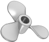3 Blade Propeller, LH, Sq, 4