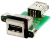 connector,usb receptacle,type a,single,right angle,pcb mount w/usb termination -- 70144948 - Image