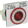 Pushbutton, Non-Illuminated, Red Maintained (Push/Pull), 1NO-1NC, 30mm,10A, 600V -- 70060476