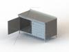 "TGSOHD Series, Stainless Steel Cabinet with 2 3/4"" Backsplash NSF Listed -- 4TGSOHD-24120 - Image"