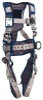 DBI-SALA ExoFit STRATA Grey, Blue Large Vest-Style Shoulder, Back, Leg Padding Body Harness - Polyester Webbing - 840779-11016 -- 840779-11016