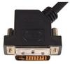 DVI-D Dual Link DVI Cable Male / Male 45 Degree Left, 1.0 ft -- DVIDDL-45-1 - Image