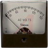 AC Voltage Meter, 0-150ACV, Iron-Vane; High Density Black Plastic; + 2% -- 70209378