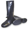 Overboots,Mens,XL,Button,Blk,Rubber,1PR -- 3ZFJ6
