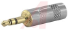 Connector; AV; Stereo Plug; 3.5mm; Nickel Handle; Gold Plug -- 70088571