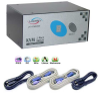 2-Port Linkskey Dual Monitor KVM Switch w/ Cables -- LKV-DM02SK - Image