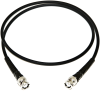 Coax Cable Male BNC's & Strain Reliefs: 6 Inches -- BU-P2249-C-6 - Image