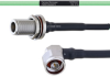 Temperature Conditioned Low Loss N Female Bulkhead to RA N Male Cable LL160 Coax in 24 Inch -- FMHR0223-24 -Image
