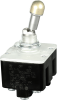 TL Series Toggle Switch, 4 pole, 3 position, Screw terminal, Locking Lever, Military Part Number MS24660-21L -- 4TL1-1L