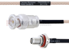 BNC Male to SMA Female Bulkhead MIL-DTL-17 Cable M17/113-RG316 Coax in 8 Inch -- FMHR0088-8 -Image