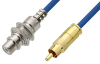75 Ohm RCA Male to 75 Ohm RCA Female Bulkhead Cable 60 Inch Length Using 75 Ohm PE-B159-BL Blue Coax -- PE38135/BL-60 -Image