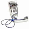 Asimitel 2554 CP-A32 All-Chrome Touch-Tone Wall-Mount Telephone with Armored Cord - Image