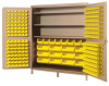 """Heavy-Duty All-Welded Storage Cabinets - 72"""" Wide - QSC-BG-72S - Image"""