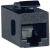 Cat6 Straight Through Modular In-line Snap-in Coupler (RJ45 F/F), TAA -- N235-001 - Image