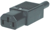 CONNECTOR, IEC POWER ENTRY, PLUG, 10A -- 17B6858