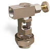 """Inverted Angle Heavy Duty Sight Feed Valve, Solid Gasket, 1/2"""" Female NPT Inlet, 1/2"""" Female NPT Outlet, 1 1/8""""-12 Remote Mounting Thread, Handwheel -- B743-9-SG -Image"""