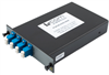 Passive CWDM, Single LGX Mux, 4 Ch. w/ 20nm spacing, start ch 1550nm, LC/UPC w/ MON (1%)&Pass Single com fiber -- PCW1M-04355-NN46 -Image