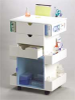 Cart,Space Saver,Wht/Clr HDPE/Acrylic -- 51142