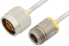 N Male to N Female Cable 24 Inch Length Using PE-SR402AL Coax -- PE34289LF-24 -Image