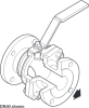 Full Bore Ball Valve DN50 to DN200 DIN PN16 (F1 and F4) -- M31V ISO - Image