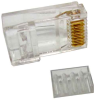 CAT6 RJ45 Modular Plug Round Solid 50Micron 100 pcs per bag -- 68PG-6B -- View Larger Image