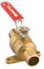 2-Piece, Full Port, Brass Ball Valve with PEX Ends and Dog-Ears -- FBV-PEX-DE