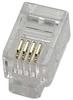 RJ22 4P4C Flat Stranded Wire Handset Plug, 100pcs. -- 170311