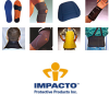 Impacto 80610 Large Leather Elbow Pad - Slip-On Only Adjustment - Foam/Visco-Elastic Polymer Padding - 6.5 in Length - 628167-02941 -- 628167-02941