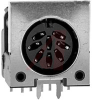 Conn; Circ; DIN; Cable Socket; Rt. Angle; 8; PCB Mount -- 70214211 - Image