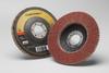 3M Cubitron II 967A Type 27 Coated Ceramic Aluminum Oxide Flap Disc - 40 Grit - 4 1/2 in Diameter - 55605 -- 051141-55605 - Image