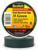 Scotch® Professional Grade Color Coding Vinyl Electrical Tape 35 -GREEN - 1/2/2; x 20 ft roll -- MMMMTAPE-35-1/2-20-GREEN -Image