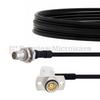 Slide-On BMA Plug Bulkhead to RA Slide-On BMA Jack 2 Hole Flange Cable FM-SR086TBJ Coax in 12 Inch -- FMCA1566-12 -Image