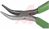 Plier, Long Nose; Curved; 5 in.; 15/16 in.; 7/16 in.; 9/32 in.; Green; -- 70223467