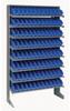 Bins & Systems - 4'' Shelf Bins (QSB Series) - Sloped Shelving Units - Single Sided Pick Racks - QPRS-100 - Image