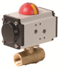 Pneumatically Actuated 2 PC Lead-Free Brass Vall Valve -- PHG Series