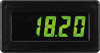 CUB4 DC Voltmeter with Yellow/Green Backlighting -- CUB4V010