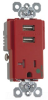 Combination Switch/Receptacle -- TR-8301USBRED -- View Larger Image