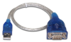 Sabrent 1 Ft USB 2.0 to Serial DB9 Male RS-232 Cable Adapter -- SBT-USC1M