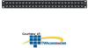 Siemon 48 Port Shielded Patch Panel -- Z6AS-PNL-U48K