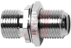 75 Ohm Type F (f/f) in-line, with nut and washer. -- 70197195