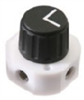 High-pressure valve, PTFE, 4 port, 90 adjacent ports connection -- GO-06471-76