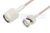 TNC Male to BNC Male Cable 24 Inch Length Using RG316 Coax -- PE3C3393-24 -Image