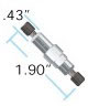 250 psi (17 bar) BPR Cartridge (P-764) with SST Holder -- U-608 - Image