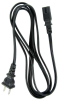 1ft 18 AWG 2-Slot Non-Polarized Power Cord (IEC320 C7 to NEMA 1-15P) -- P7NB-01